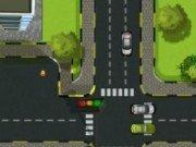 Dirijeaza traficul de masini din intersectie