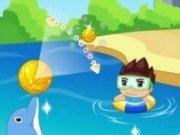 Spectacol cu delfini in apa