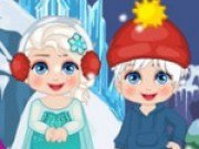Elsa, Anna si Olaf se amuza de Anul Nou