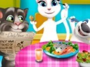 Talking Tom si Angela Slacking