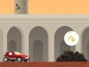Cursa cu masina in curte