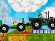 Mario pe camp cu Tractorul