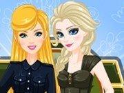 Elsa si Barbie Stil militar