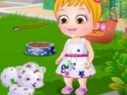 Baby Hazel Ingrijeste catelul