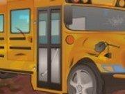 Spala autobuzul scolii