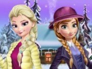 Elsa si Anna Haine de Iarna