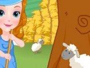 Printesa Sofia hraneste animalele de la ferma