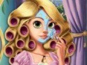 Joc de machiat si coafat cu Rapunzel