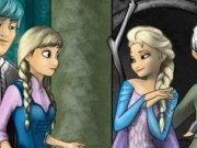 Elsa si Baby Elsa de colorat