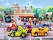 Piese puzzle cu masini de curse