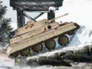 Misiune de condus tancul iarna