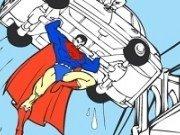 Superman Cartoon de colorat