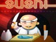 Bucatarul japonez prepara sushi