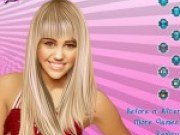 Miley Cyrus Machiaj si Dress up pentru Concert