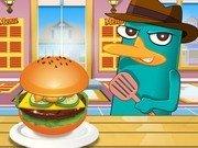 Perry gateste Hamburger american
