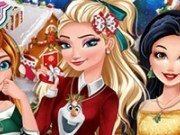 Printesele disney in orasul Christmasland