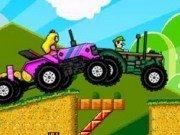 Curse cu tractorul cu Mario, Luigi, Peach si Yoshi