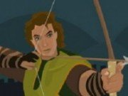 Robin Hood de tras cu arcul