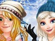Rapunzel si Elsa Dress up de iarna