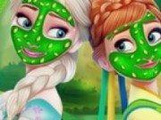 Surorile Frozen Anna si Elsa Tratament facial