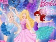 Barbie si Printesele Disney la patinoar